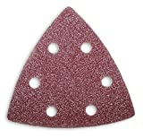 50 Schleifblätter Schleifdreiecke mit 6- Loch 93x93x93 mm verschiedene Körnungen wählbar - für viele Dreieckschleifer (Korn 60)