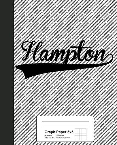 Graph Paper 5x5: HAMPTON Notebook (Weezag Graph Paper 5x5 Notebook, Band 2979) -