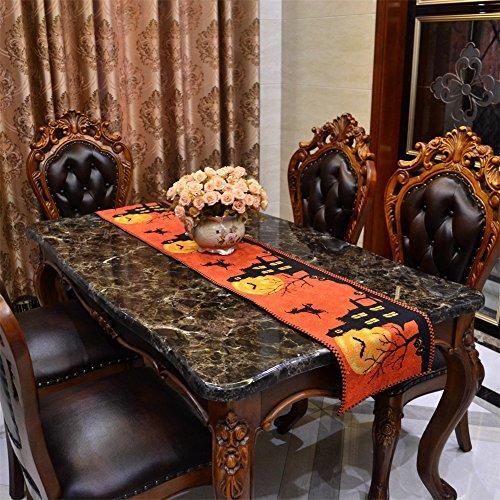 Lanlan Halloween Tischläufer, Tischdecke Kürbis Hexe Fledermaus, Tisch-Sets Desktop Home - Halloween-dekoration Ikea