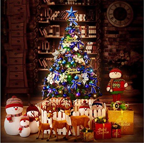 Künstlicher Weihnachtsbaum Kiefer 1,8 M mit soliden Metallspitzen Beine voll Baum enthält dekorative und leuchtet blau