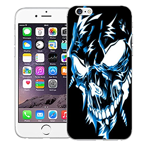 """Nouveau iPhone 6 4.7"""" inch clip on Dur Coque couverture case cover Pare-chocs - cheerful floral Motif avec Stylet blue robotic"""