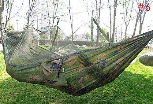soleditm Hot Verkauf Tragbare Hängematte-in der Tasche Moskitonetz Hängematte aufhängen Bett für Travel Kits Camping Wandern