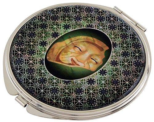 Korean madreperla Maschera: lente d'ingrandimento compatta, 2-Pochette da trucco Beauty-Specchietto tascabile