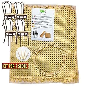 thonetstuhl reparatur set wiener geflecht komplett zu reparieren 4 st hlen. Black Bedroom Furniture Sets. Home Design Ideas