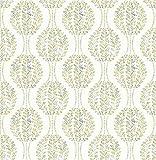 BHF Mirabelle fd22739foglia Ogee Versailles carta da parati, colore: verde/beige