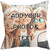 Cuscino Personalizzato con Foto,Stampa Fronte-Retro, 40x40 Regalo per San Valentino, Compleanno, Festa della Mamma Foto Full