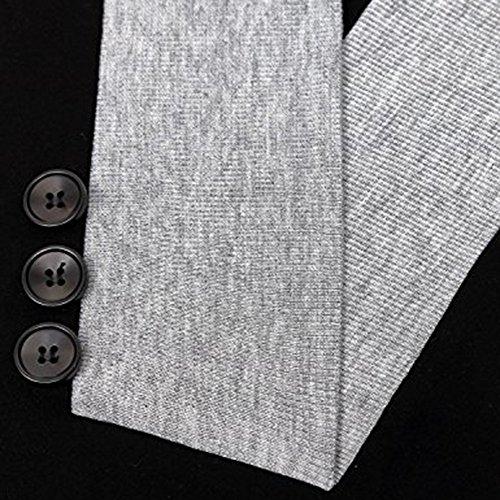 Vertvie Femme T-Shirt Long Tunique à Manches Longues Tops Blouse Sweat-Shirt Casual Confortable Col Bouton Noir 1