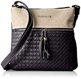 David Jones femme 5735-1 Sac bandouliere Noir (BLACK)