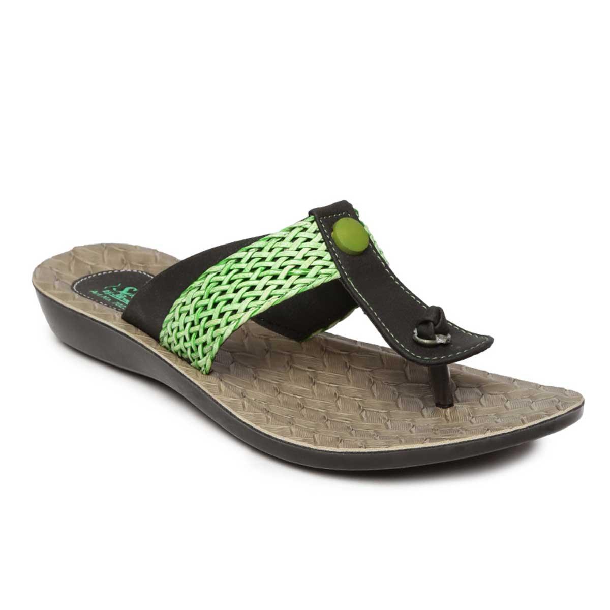 655d2599368a PARAGON SOLEA Women s Green Flip-Flops – Buy Bestow