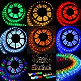 Costway 10/20/30M LED Rope Strip Light 220-240V Party Home Waterproof Xmas Christmas Gifts Decorations (RGB, 20M)
