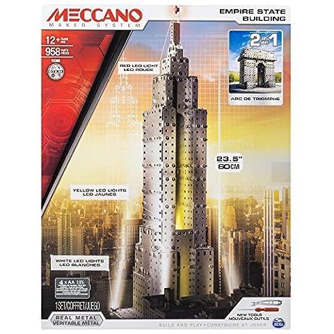 Meccano - 6024902 - Jeu De Construction - Empire State Building Lumineux et Arc de Triomphe - 1163