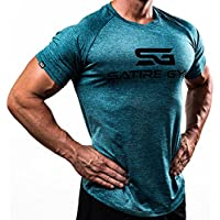 Fitness T-Shirt Herren - Funktionelle Sport Bekleidung - Geeignet Für Workout, Training - Slim Fit - Satire Gym