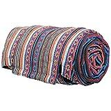 Kunst und Magie Handgewebte Familien Picknickdecke mit Azteken Muster, Farbe:Mehrfarbig
