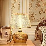 Gold Keramik Dekoration Tischlampe, Kreative Europäischen stil Nachtlicht für Schlafzimmer Nacht Study Room Ehe Zimmer