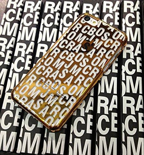 Coque iPhone 5C, iNenk® Marée Marque Lettre 5c Téléphone Mobile Coquille dure Pc de protection à manchesDessin de mode de la coque Apple iPhone 5C-Rouge d'or
