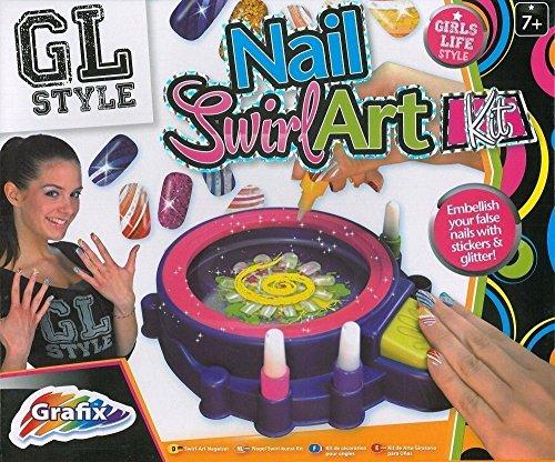 Kit De Uñas Para Niñas Esmalte de uñas Esmalte de uñas Manicura Spa Swirl Art Kit