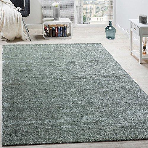 Paco Home Designer Teppich Frieze Teppiche Luxuriös Schimmer Glanzeffekt Pastell Mint Grün, Grösse:60x110 cm (Frieze-teppich)