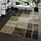 Teppich Günstig Karo Design Modern Wohnzimmerteppich Braun Beige Creme Top Preis, Größe:160x220 cm