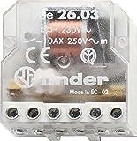 Finder Serie 26–Stromstoßschalter AC, 230V, bipolare Abweichung, Kontakt offen + Kontakt geschlossen