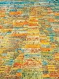 1art1 67715 Paul Klee - Hauptweg Und Nebenwege, 1929 Poster Kunstdruck 80 x 60 cm