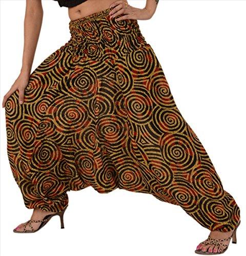 Skirts & Scarves Women's Afgani Harem Pant (PAP70_Multicolour_Free Size)