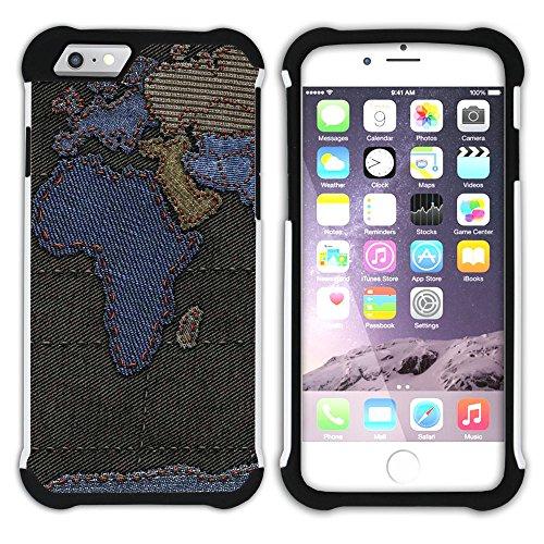 Graphic4You Solar System Map Space Astrology Design Hart + Weiche Kratzfeste Hülle Case Schale Tasche Schutzhülle für Apple iPhone 6 Plus / 6S Plus Design #2