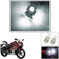 Vheelocityin 5 SMD LED Parking Bulbs for all Bikes/ Motorcycle/ ScooterFor Yamaha Yzf R15 Ver 2-0