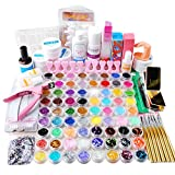 Fashion Gallery Nail Art 72pc UV Gel Farbgel Cleanser Plus Acryl Puder Glitter UV Gel Nail Set Nageldesign Anfängerset Nagelset Nagelgel Starterset