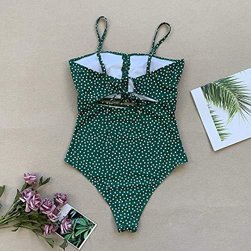 Manooby Damen Badeanzug Groß Bauchweg Einteiler Bademode Badeanzug High Waist Einteiliger Figurformender Schwimmanzug L bis XL - 7