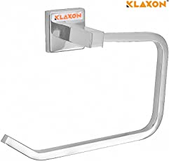 Klaxon Kristal 102 Stainless Steel Towel Ring (Silver, Chrome Finish)