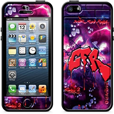 id America del Cushi pi? Graffit iPhone 5 corrispondenza [3D sigillo cuscino set paracolpi laterali] Red CSIAF513-Red-A (japan import) - America Del Sigillo