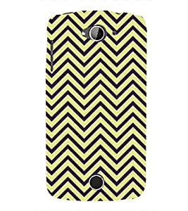Fuson Premium I Love Yellow Printed Hard Plastic Back Case Cover for Acer Liquid Z530S