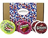 Ice Breakers Sugar Free Huge American Selection Gift Box - Berry Sours, Original Sours & Cinnamon - 6 Packs - Hamper Exclusive To Burmont's