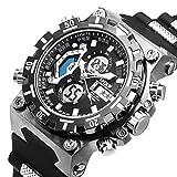 Sportuhr Digital Armbanduhr großes Gesicht Wasserdicht Militär Stoppuhr SIBOSUN Männer Japanisches Quarzwerk Alarm Datum