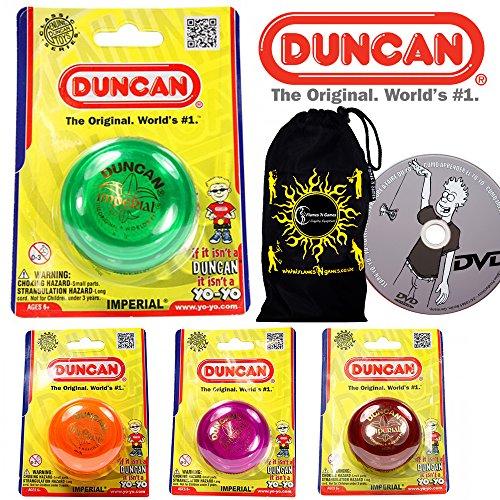 Duncan IMPERIAL Klassisch YoYo - Standard Einstiegslevel YoYo + Lernen Yo Yo Tricks DVD + Reisetasche! Große KleinYo-Yo für Anfänger und Kinder. (Lila) (Yoyo Trick Duncan)