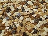 Mini Mosaiksteine 500g Braun Mix 1x1cm Lose Steine zum Basteln aus Glasmosaik