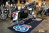 Biketek Extra Groß Motorrad Custom Garage Matte Route 66