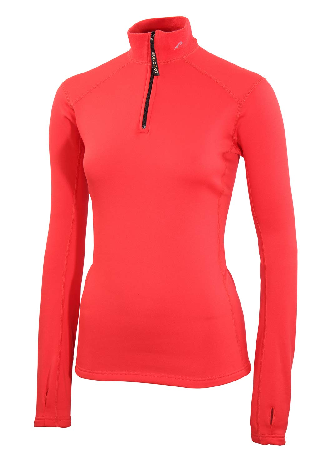 61nlRcIgtbL - SUB ZERO Womens Factor 2 Insulating Winter Mid Layer Thermal Underwear Zip Neck Turtle Long Sleeve Top