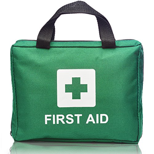 93 Piece Professional First Aid Kit Bag - Includes 4 x Eyewash, 2 x Cold (Ice) Packs, Emergency Blanket for Home. Suitable for School, Office, Car, Caravan, Workplace, Travel