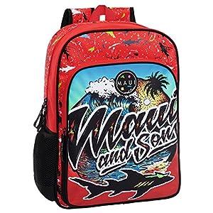 Maui 4552351 Beach Mochila Escolar, 15.6 litros, Color Rojo