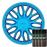 KandyDip® Sprühfolie Sapphire Blue Flüssiggummi Felgenfolie Spraydosen Sets+2K, (1x Effekt, Satin)