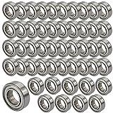 JBS basics 50 Stück [ 688 ZZ ] Kugellager [ 8 x 16 x 5 mm ] Miniatur Lager Rillen Radiallager Precicion Ball Bearing