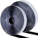Faburo 8m Doppelseitig Klebende Klettband Schwarz