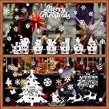 BUONDAC 2 pcs Pegatinas Navidad Vinilos Stickers Navideños Decorativos Ventana...