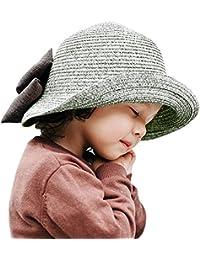 780962bb052b CHIC-CHIC Chapeau Capeline d été Printemps Fille Enfant Bébé Protection  Soleil Nœud Papillon