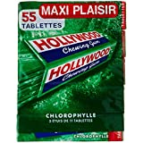 Hollywood Chewing Gum Chlorophylle 5 Paquets de 11 Tablettes