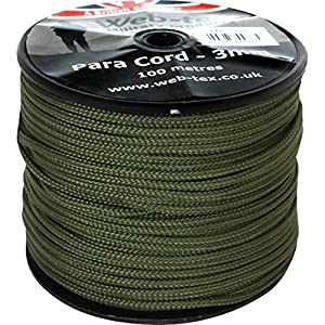 61nm69oL1eL. SS300  - Web-tex Paracord 100 Metre Roll 3 Millimeters