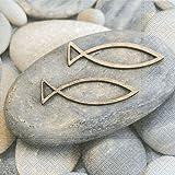 20 Servietten Decision - Fische auf Steine / Konfirmation / Kommunion / Taufe 33x33cm