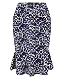 Damen Kleid 1950er Fünf Stile Retro Print Polka Dots Leopard Diamant Hahnentritt Muster Party Fishtail Rock Elegant Knielang Leopard XXL