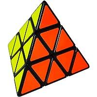 EASEHOME Pyraminx Speed Puzzle Cube, 3x3 Triangle Pyramid Magic Cube Magique Cubo avec Autocollant de PVC pour Enfants…